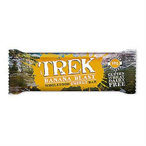 Banana Blast - Trek Protein Energy Bar - No Added Sugar Gluten & Wheat Free 55g